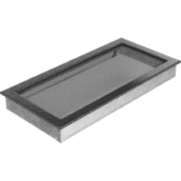 Kratki prostokątne Kratka czarno-srebrna 22x45