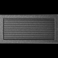 Kratki prostokątne Kratka czarno-srebrna z żaluzją 22x45