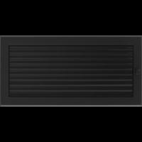 Kratki prostokątne Kratka czarna z żaluzją 22x45