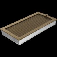 Kratki prostokątne Kratka czarno-złota z żaluzją 22x45