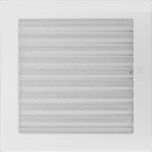 Kratki prostokątne Kratka biała z żaluzją 22x22