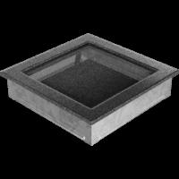 Kratki prostokątne Kratka czarno-srebrna 22x22