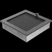 Kratki prostokątne Kratka czarno-srebrna z żaluzją 22x22