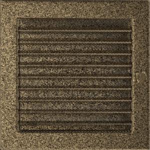 Kratki prostokątne Kratka czarno-złota z żaluzją 22x22