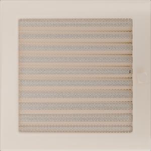 Kratki prostokątne Kratka kremowa z żaluzją 22x22