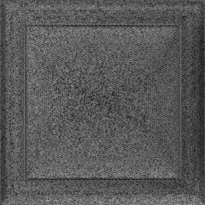 Kratki prostokątne Kratka Oskar czarno-srebrna 22x22