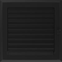 Kratki prostokątne Kratka Oskar czarna z żaluzją 22x22