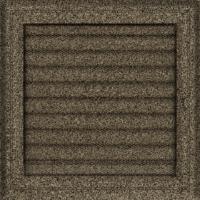 Kratki prostokątne Kratka Oskar czarno-złota z żaluzją 22x22