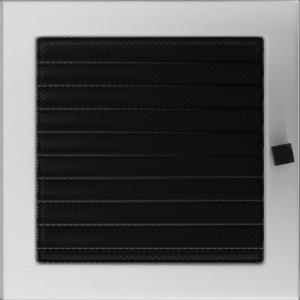 Kratki prostokątne Kratka szlifowana z żaluzją 22x22