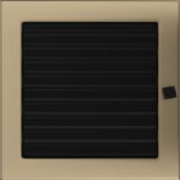 Kratki prostokątne Kratka złoto galwaniczne z żaluzją 22x22