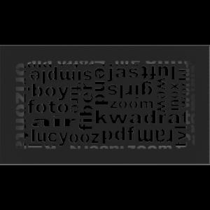 kratki ozdobne Kratka ABC czarna 17x30