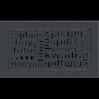 Kratki ozdobne Kratka ABC grafitowa 17x30
