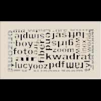 Kratki ozdobne Kratka ABC kremowa 17x30