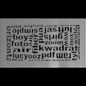 kratki ozdobne Kratka ABC szlifowana 17x30