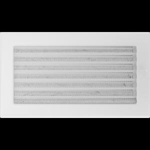 Kratki prostokątne Kratka biała z żaluzją 17x30