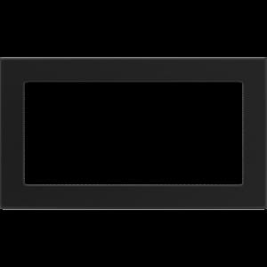 Kratki prostokątne Kratka czarna 17x30