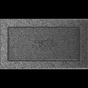 Kratki prostokątne Kratka czarno-srebrna 17x30
