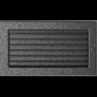 Kratki prostokątne Kratka czarno-srebrna z żaluzją 17x30
