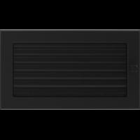 Kratki prostokątne Kratka czarna z żaluzją 17x30