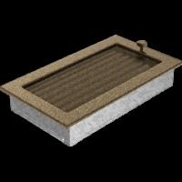 Kratki prostokątne Kratka czarno-złota z żaluzją 17x30