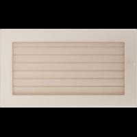 Kratki prostokątne Kratka kremowa z żaluzją 17x30