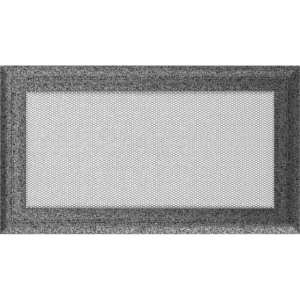Kratki prostokątne Kratka Oskar czarno-srebrna 17x30