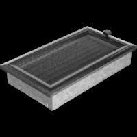 Kratki prostokątne Kratka Oskar czarno-srebrna z żaluzją 17x30