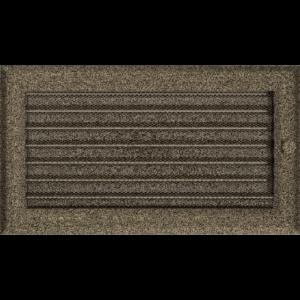 Kratki prostokątne Kratka Oskar czarno-złota z żaluzją 17x30