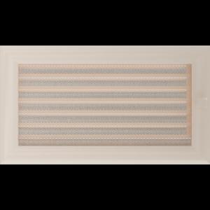 Kratki prostokątne Kratka Oskar kremowa z żaluzją 17x30