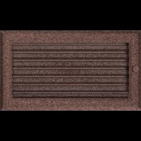 Kratki prostokątne Kratka Oskar miedziana malowana z żaluzją 17x30