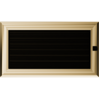 Kratki prostokątne Kratka Oskar z żaluzją 17x30