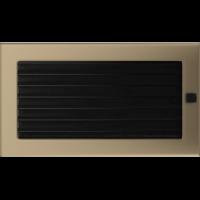 Kratki prostokątne Kratka złoto galwaniczne z żaluzją 17x30