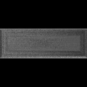 Kratki prostokątne Kratka Oskar czarno-srebrna 11x32