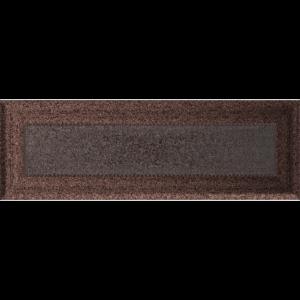 Kratki prostokątne Kratka Oskar miedziana malowana 11x32