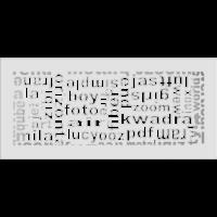 Kratki ozdobne Kratka ABC biała 17x37