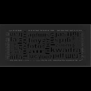 kratki ozdobne Kratka ABC czarna 17x37