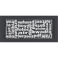 Kratki ozdobne Kratka ABC grafitowa 17x37