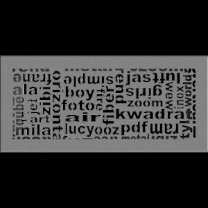 kratki ozdobne Kratka ABC granito 17x37