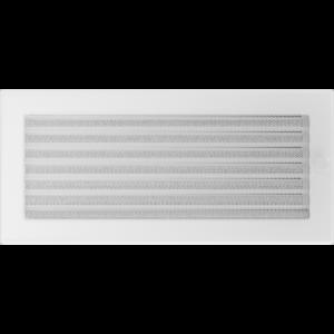 Kratki prostokątne Kratka biała z żaluzją 17x37