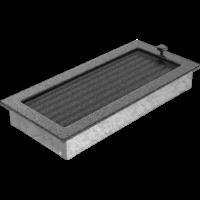 Kratki prostokątne Kratka czarno-srebrna z żaluzją 17x37
