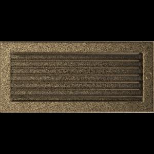 Kratki prostokątne Kratka czarno-złota z żaluzją 17x37