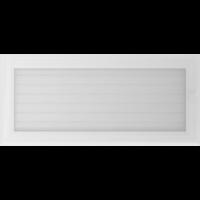 Kratki prostokątne Kratka Oskar biała z żaluzją 17x37