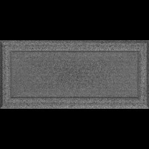 Kratki prostokątne Kratka Oskar czarno-srebrna 17x37