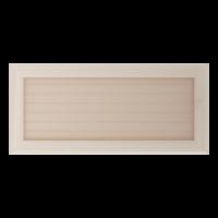 Kratki prostokątne Kratka Oskar kremowa z żaluzją 17x37