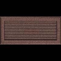 Kratki prostokątne Kratka Oskar miedziana malowana z żaluzją 17x37