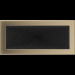 Kratki prostokątne Kratka złoto galwaniczne 17x37