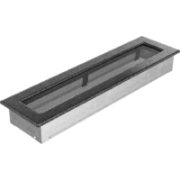 Kratki prostokątne Kratka czarno-srebrna 11x42