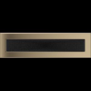 Kratki prostokątne Kratka złoto galwaniczne 11x42