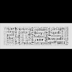 kratki ozdobne Kratka ABC biała 17x49