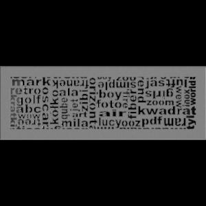 kratki ozdobne Kratka ABC granito 17x49